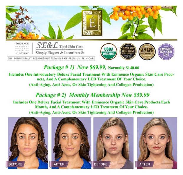 Eminence Organic Skin Care Facials Specials